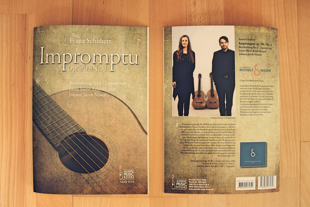 Notenausgabe für zwei Gitarren: Schubert Impromptu op. 90/1